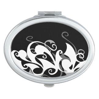 Shadow Swirl (Oval Compact) Travel Mirror