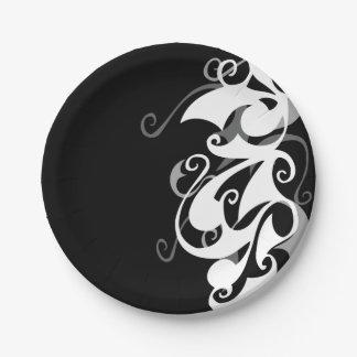 Shadow Swirl Paper Plates
