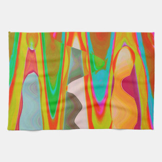Shadow Talk - Acrylic Oriental Color Art Kitchen Towel