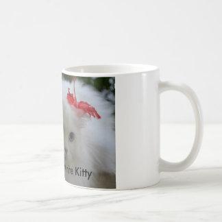Shadow the white kitty coffee mug