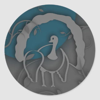Shadow Turkey Noir by the Moon Classic Round Sticker