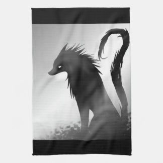Shadow Wolf Anime Towel