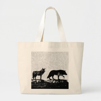 Shadow Wolves Large Tote Bag