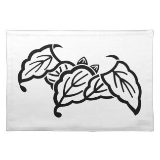 Shadowed bat-shaped oak leaves placemat