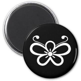 Shadowed butterfly-shaped plum blossom (Kocho) Magnet