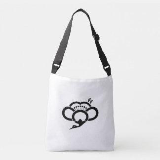 Shadowed crane-shaped plum blossom crossbody bag