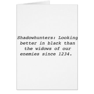 Shadowhunters Card