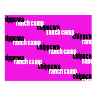 Shadowing Chippewa (Pink) Postcard