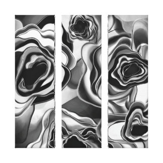 ShadowRose Giclee Tryptic Canvas Print