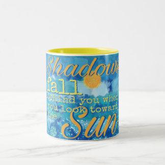 Shadows Fall Behind - Encouragement Two-Tone Coffee Mug