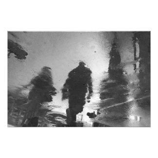 Shadows for silence in the city photo print