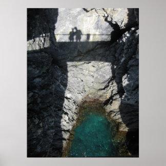 Shadows in Monterosso al Mare Poster