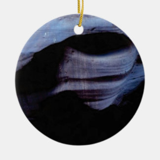 shadows in the rock wall ceramic ornament