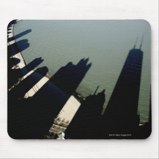 Shadows of Hancock Tower and apartment buildings Mouse Pad