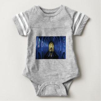 shadows of the dark blue church baby bodysuit