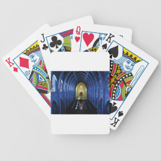 shadows of the dark blue church bicycle playing cards