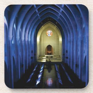 shadows of the dark blue church coaster