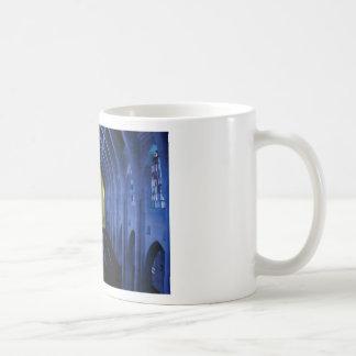 shadows of the dark blue church coffee mug