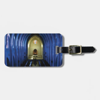 shadows of the dark blue church luggage tag