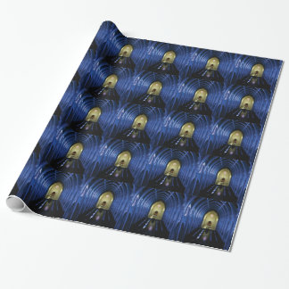 shadows of the dark blue church wrapping paper