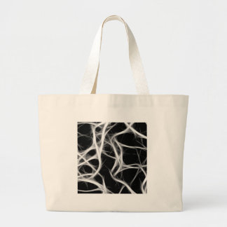 shadows of wires large tote bag