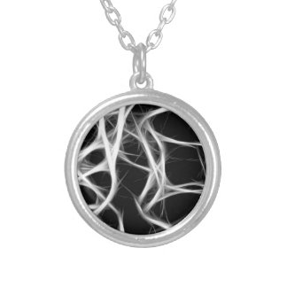 shadows of wires silver plated necklace