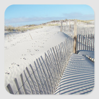 Shadows, Sand Dunes, and Fences Square Sticker