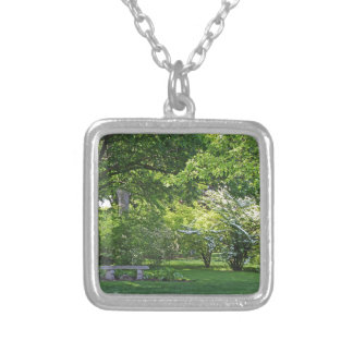 Shadows Under the Tree Silver Plated Necklace