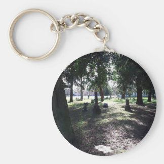 Shadowy Cemetery Basic Round Button Keychain
