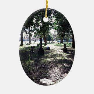 Shadowy Cemetery Ceramic Oval Ornament