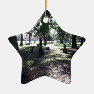 Shadowy Cemetery Ceramic Star Ornament