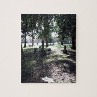 Shadowy Cemetery Jigsaw Puzzle