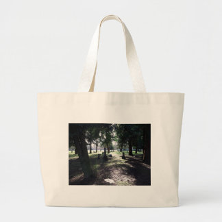 Shadowy Cemetery Large Tote Bag