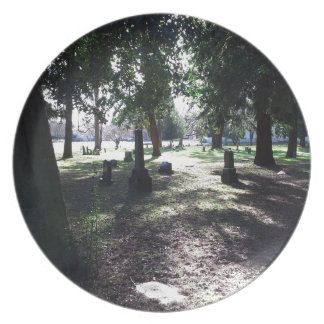 Shadowy Cemetery Plates