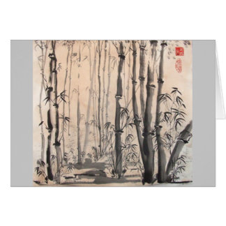 Shady Bamboo Forest Card