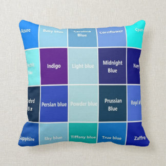 Shady Blue Throw Pillow
