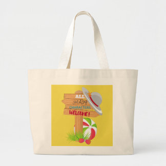 Shady Characters Beach Ball Large Tote Bag