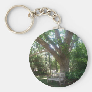 Shady Park Bench Keychain