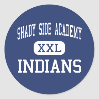 Shady Side Academy Indians Middle Pittsburgh Round Sticker