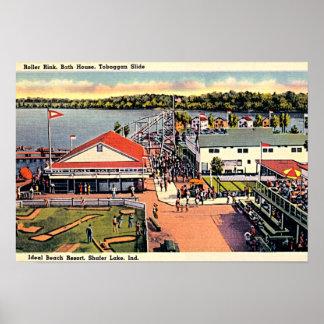 Shafer Lake, Indiana Ideal Beach Resort Poster
