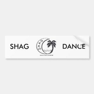 SHAG DANCE BUMPER STICKER