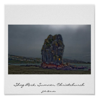 Shag Rock, Sumner, Christchurch, New Zealand Poster