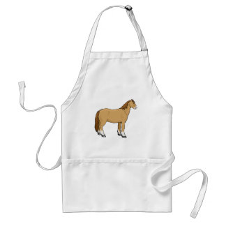 Shaggy Chestnut Horse Equine Theme Standard Apron