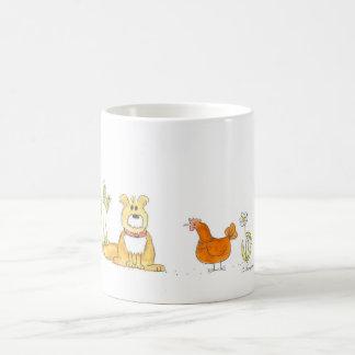 Shaggy Dog and Red Hen Mug