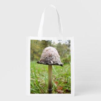 Shaggy Ink Cap Mushroom Reusable Bag