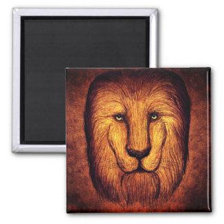 Shaggy lion magnet