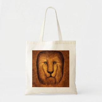 Shaggy lion tote bag