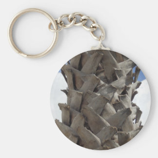 Shaggy Palm Tree Key Ring Basic Round Button Keychain