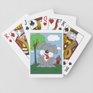 Shaggy Puppy Cartoon Playing Cards