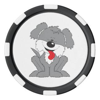Shaggy Puppy Cartoon Poker Chips Set